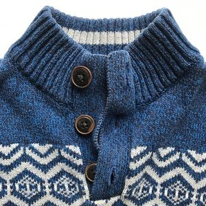 Handsome Size 6 Mock Neck Button Sweater